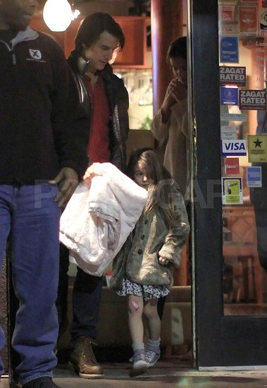 Tom Cruise and Katie Holmes Take a Bandaged Suri to Thai Food