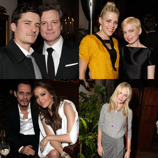 Orlando and Kate Reunite at a King's Speech Party With Colin, Michelle, Alexander, and More