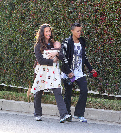 Alanis Morissette Debuts Her Son, Ever, on a Walk in LA!