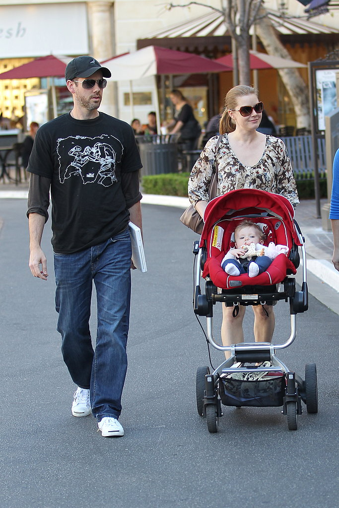 Amy Adams and Darren Le Gallo Take Little Aviana Out For a Pre-Oscars Shop and Stroll