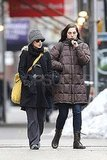 Pictures of Natalie Portman Walking With a Friend in NYC