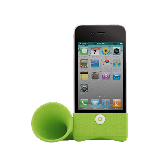 Bone iPhone Horn Stand Amplifies With No Wires