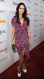Jordana Brewster's floral dress would be perfect for a Valentine's Day date — chic and sweet.