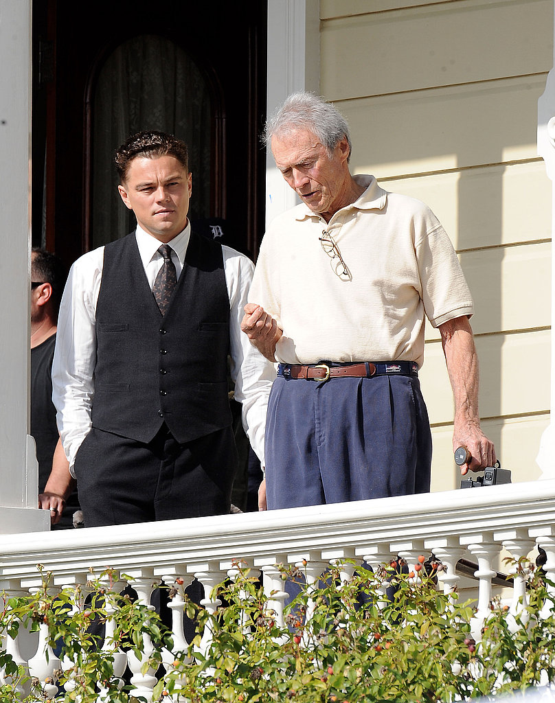 Pictures of Leonardo DiCaprio, Judi Dench, and Clint Eastwood Filming J Edgar