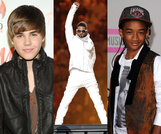 Justin Bieber, Usher and Jaden Smith