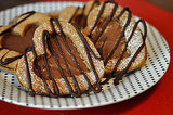 Heart-Shaped Hazelnut Sandwich Cookies with Nutella