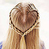 Create a Heart Hair Braid For Valentine&#039;s Day
