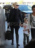 Pictures of Gwen Stefani, Zuma Rossdale, and Kingston Rossdale Leaving LAX