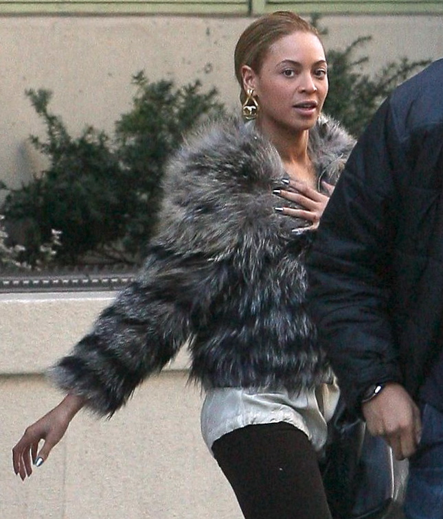 Beyoncé Struts Her Stuff in a Furry Jacket and Announces Her Glastonbury Gig