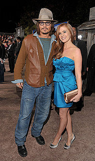 Pictures of Johnny Depp and Isla Fisher at the Rango Premiere in LA 2011-02-15 10:53:25