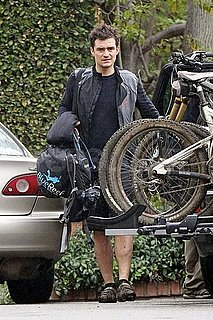 Pictures of Orlando Bloom Riding His Bike in LA