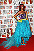 Pictures of Rihanna at the 2011 Brit Awards Red Carpet