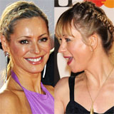 Tess Daly, Liz McClarnon, Sara Cox Hair at the 2011 Brit Awards