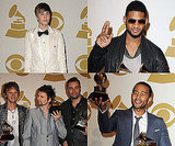 Pictures of Justin Bieber, Usher, John Legend and Matt Bellamy in the 2011 Grammy Awards Press Room