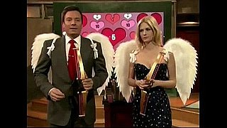 January Jones and Jimmy Fallon Play a Valentine's Day Game