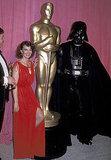 Natalie Wood and Darth Vader, 1978