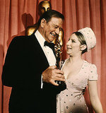 John Wayne and Barbra Streisand, 1969.