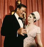 John Wayne and Barbra Streisand, 1969.