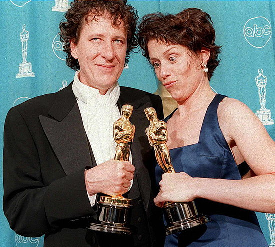 Geoffrey Rush and Frances McDormand, 1997.