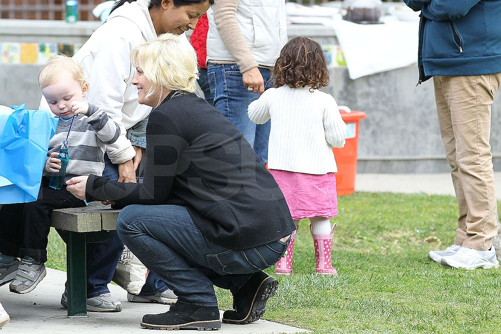 Amy Poehler and Archie Arnett Let Loose on a Park Playdate