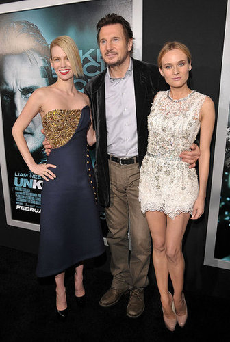 Pictures of January Jones, Diane Kruger, Liam Neeson, and Joshua Jackson at the LA Premiere of Unknown