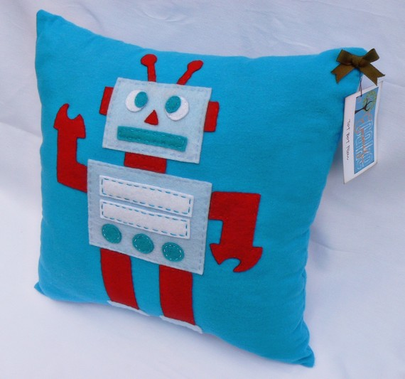 Tot Bot Pillow