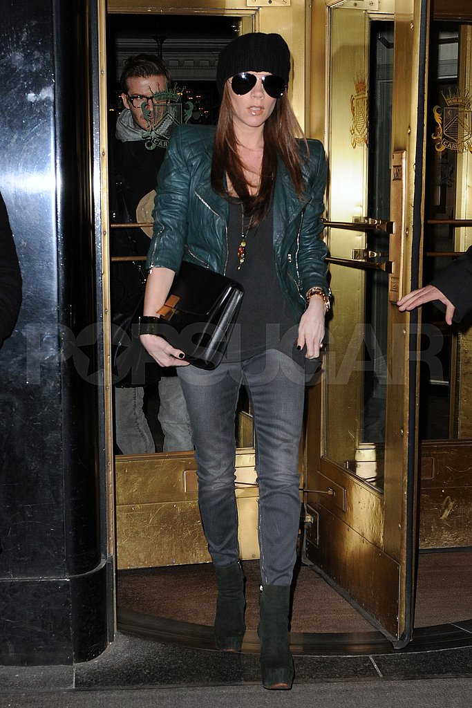Pictures of Victoria Beckham and David Beckham Leaving Their NYC Hotel