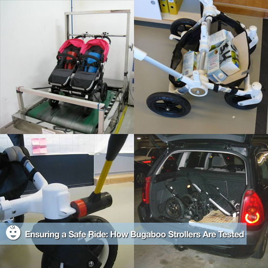 Pictures of Bugaboo's Donkey Stroller Safety Tests