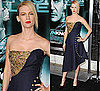 Photos of January Jones in Alexander McQueen at Unknown Premiere