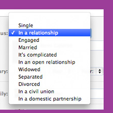 Facebook Adds Domestic Partnership and Civil Union Relationship Status