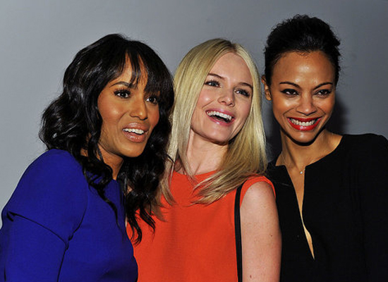 Day 8: Kerry Washington, Kate Bosworth and Zoe Saldana at Calvin Klein
