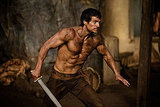 Henry Cavill as Theseus in Immortals.  Photo courtesy of Relativity