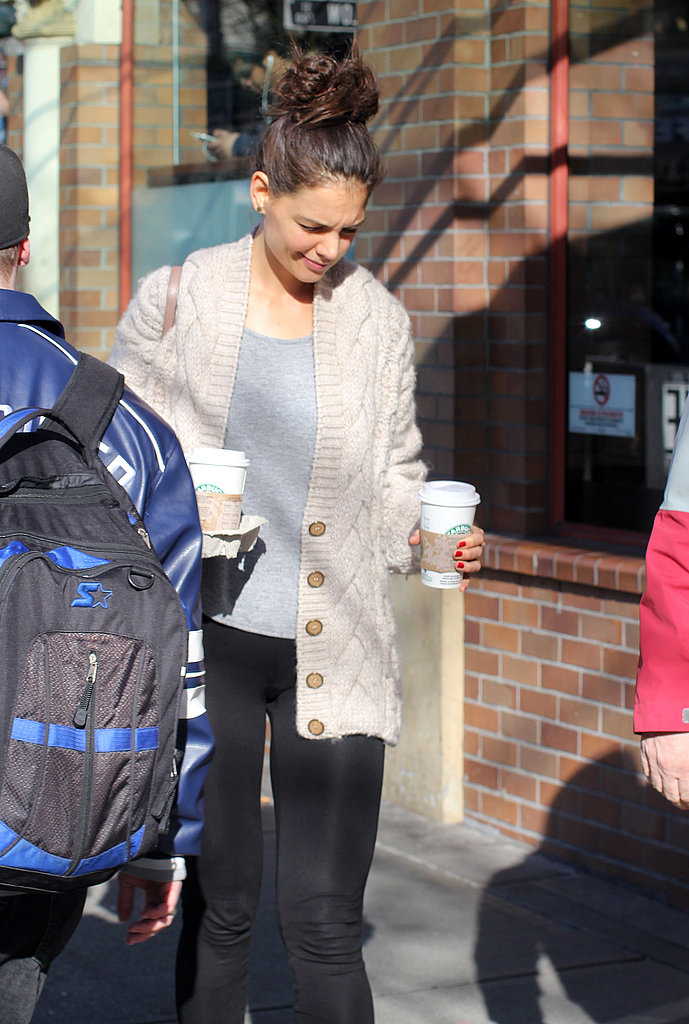 Katie Holmes Grabs Coffees as Dawson Nabs a New Role