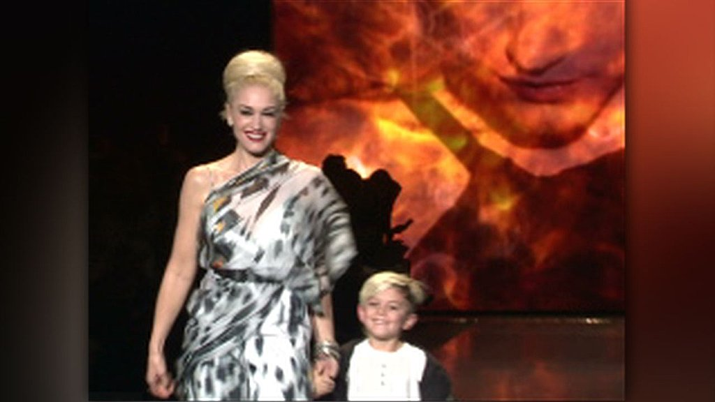 Video of Gwen Stefani With Kingston at LAMB Finale at 2011 Fall New York Fashion Week