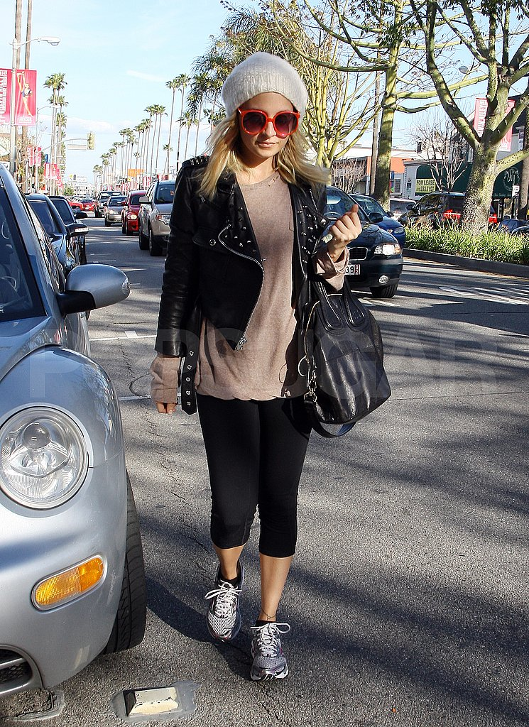 Nicole Richie Looks Tough on Her Way to a Workout