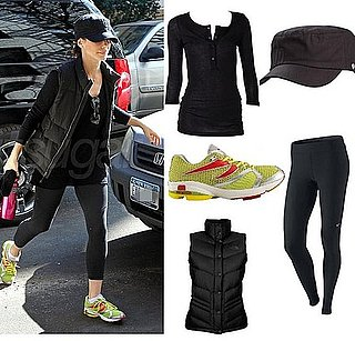 Picture of Sandra Bullock Wearing Neon Green Newton Running Shoes