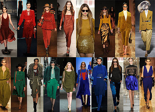 Colour Trends from 2011 Fall New York Fashion Week: Green, Rust, Cobalt, Mustard and Red