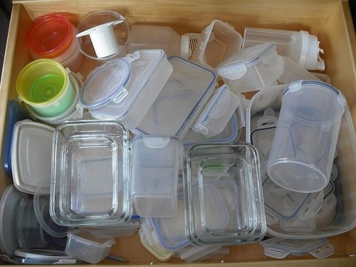 How do you store your plastic containers? 