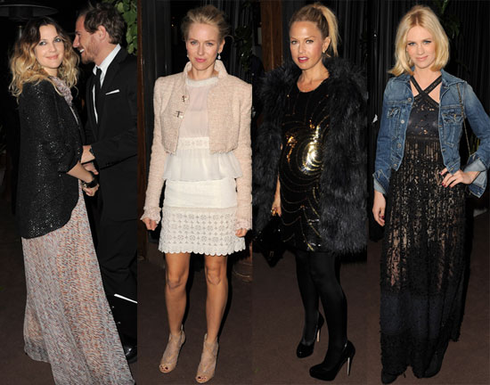 Chanel Draws Out Emma, Rachel, January, and Drew For Glamorous Pre-Oscars Bash!