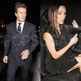 Pictures of Pregnant Victoria Beckham and David Beckham at London Fashion Week Party