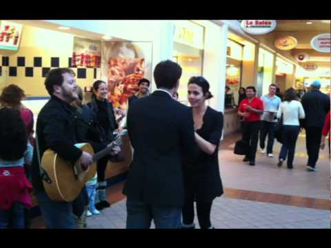 "Video of ""Sweet Caroline"" Wedding Proposal in Mall Food Court"