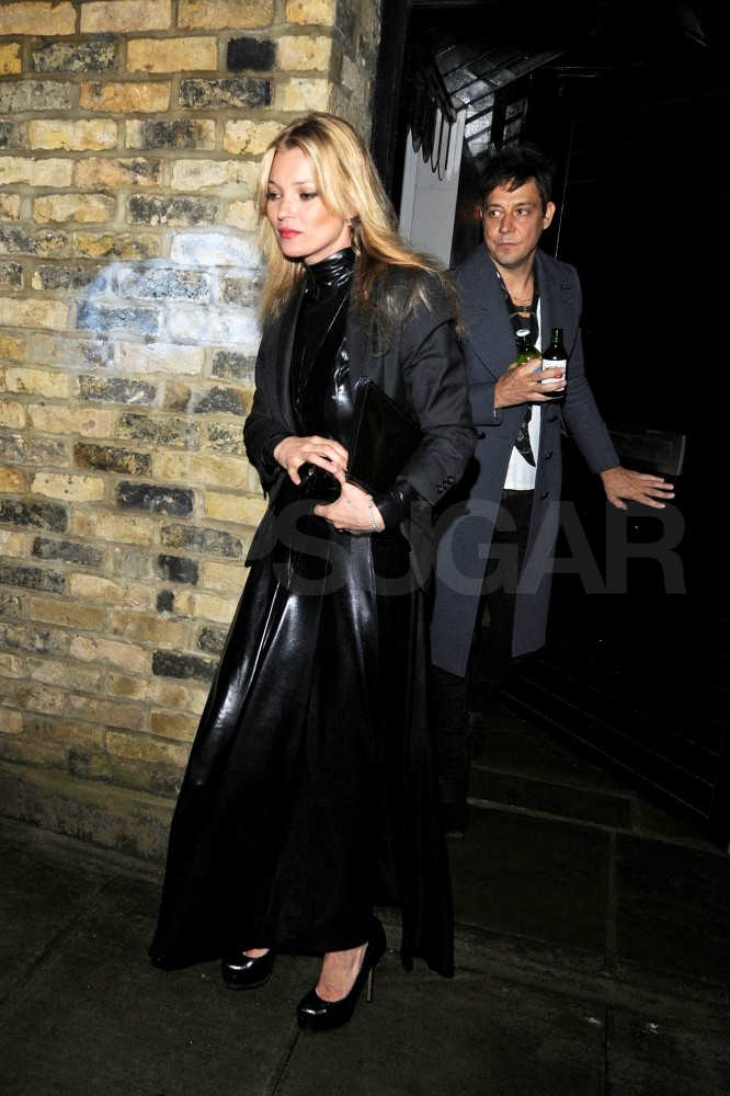 Kate Moss Wears Long Leather at the NME Awards With Hot Man Matt Bellamy