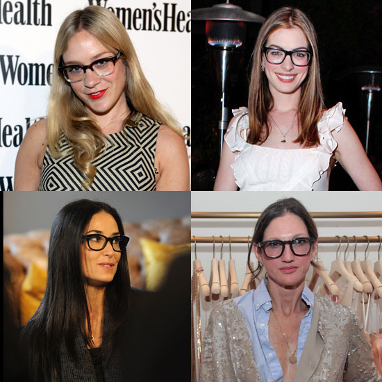 Celebrities Wear Geek-Chic Glasses Trend