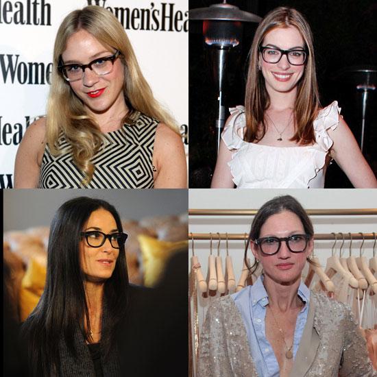 Celebrities Wear Geek-Chic Glasses Trend
