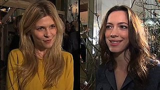 Harry Potter Star Clemence Poesy and Rebecca Hall at Mulberry Fall 2011 Show