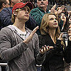 Pictures of Taylor Swiftand Glee's Chord Overstreet at a Hockey Game