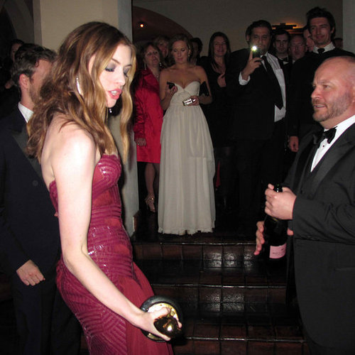 Pictures of Anne Hathaway Dancing at Weinstein Party