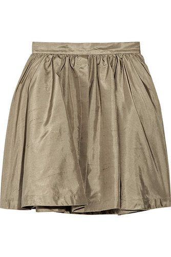 Chloé - High-waisted silk-shantung skirt