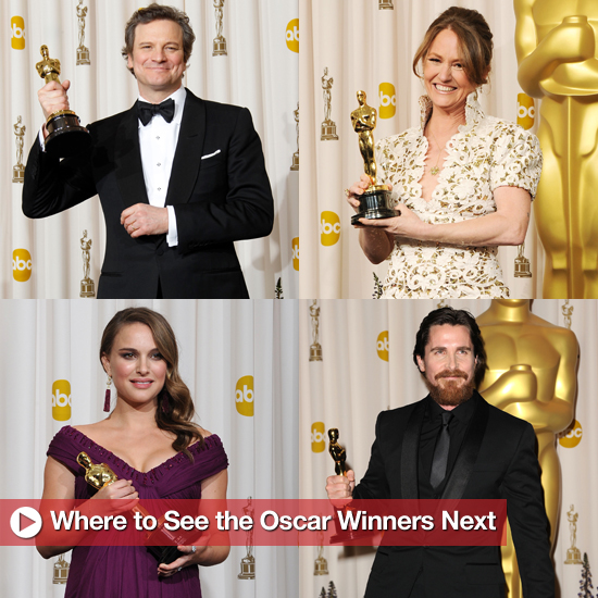 Oscar Winners Colin Firth, Natalie Portman, Melissa Leo, and Christian Bale&#039;s Upcoming Projects 2011-03-02 15:11:46