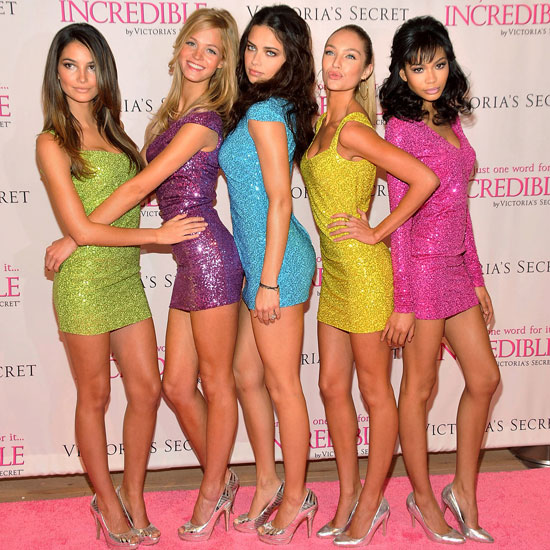 Pictures of Lily Aldridge, Erin Heatherton, Adriana Lima, Candice Swanepoel, and Chanel Iman at a Victoria&#039;s Secret Event 2011-03-01 14:22:46